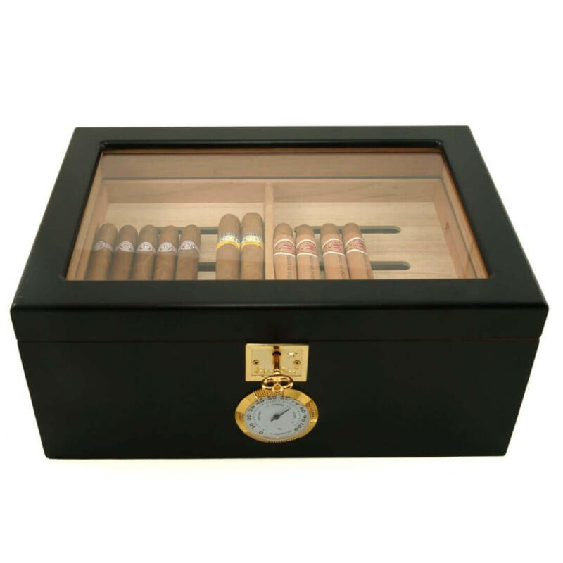 Black Glass top cihat humidor
