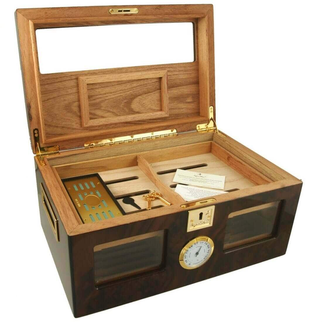 WALNUT CIGAR HUMIDOR | Cigar Star| Buy Online In Canada