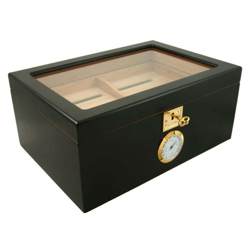 cigar humidor black