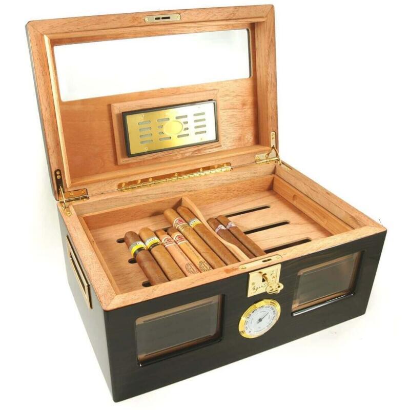 Perfect Ager III 150 Cigar Star Humidor Ebony Wood!