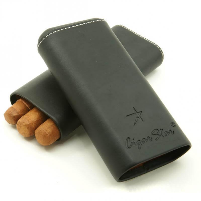 Travel humidor with Spanish Cedar Cigar Star