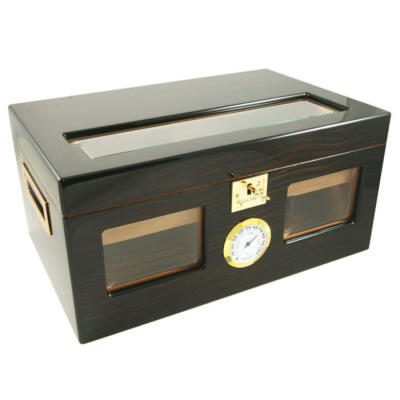Perfect Ager III 150 Cigar Star Humidor Ebony Wood!