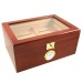 A Showcase II Bubinga Cigar Star Humidor Glass Top