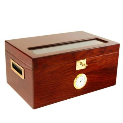 Glass lid humidor