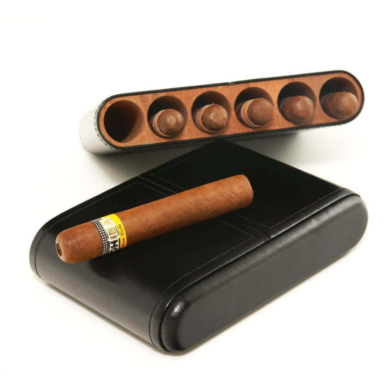 6 Cigar Leather Travel Humidor