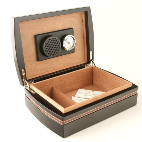 Matt Black Desktop 25 Cigar Humidor