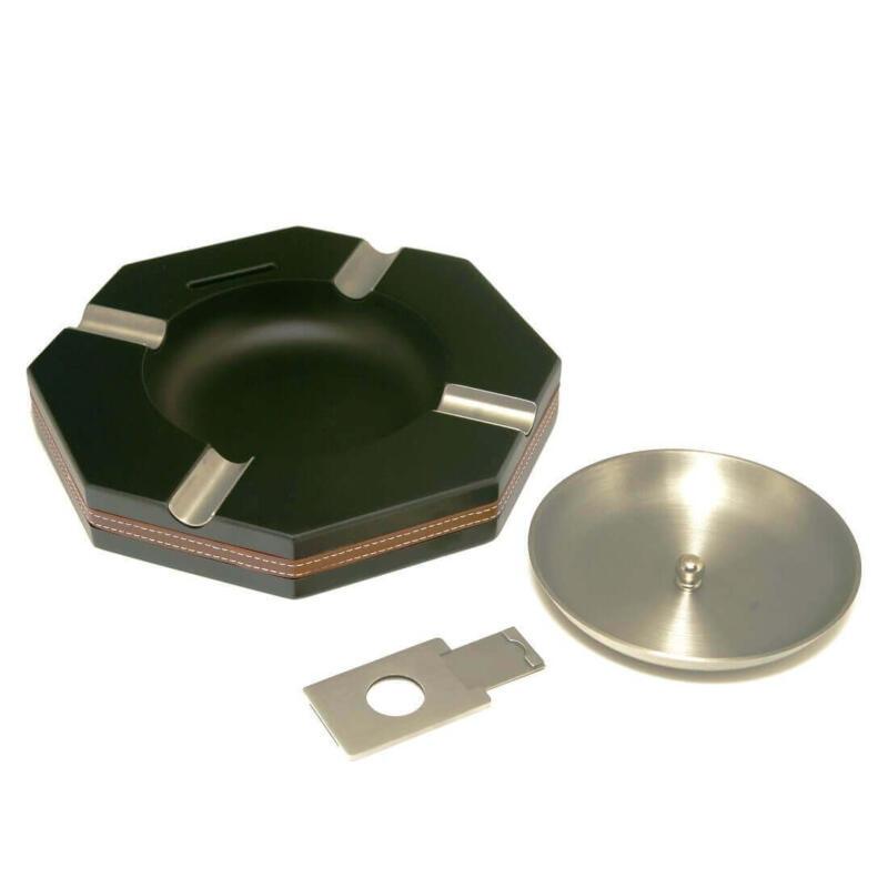 4 cigar ashtray black