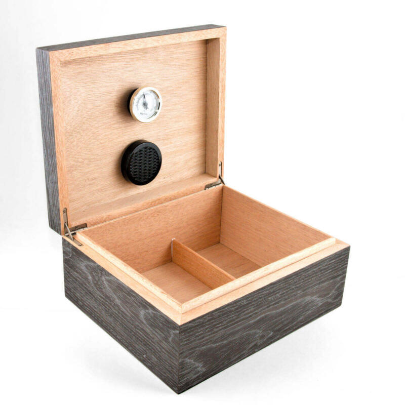 Cannabis Humidor Raw Finish Mahogany Inside