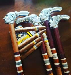 Rare Cohiba Style walking canes 100% Hand Crafted