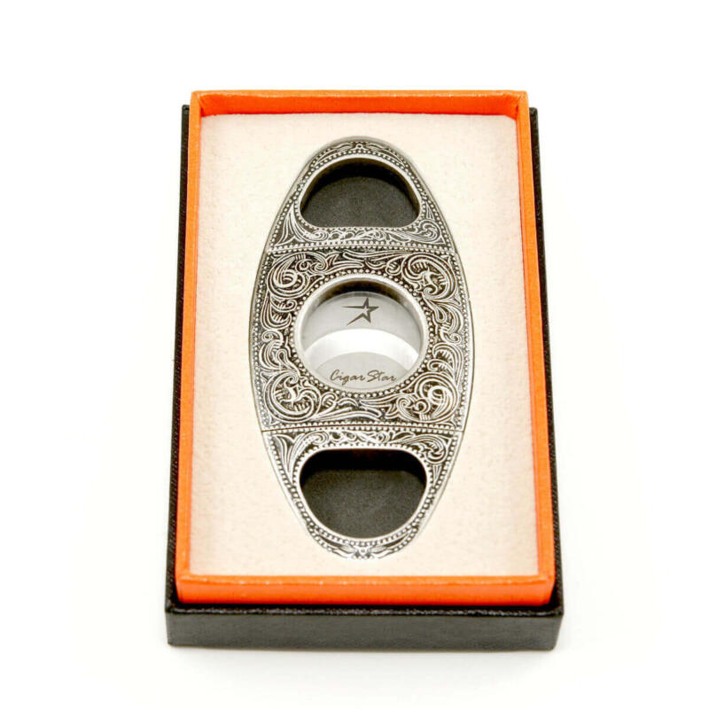 Ornate double blade Xikar cigar cutter by Cigar Star