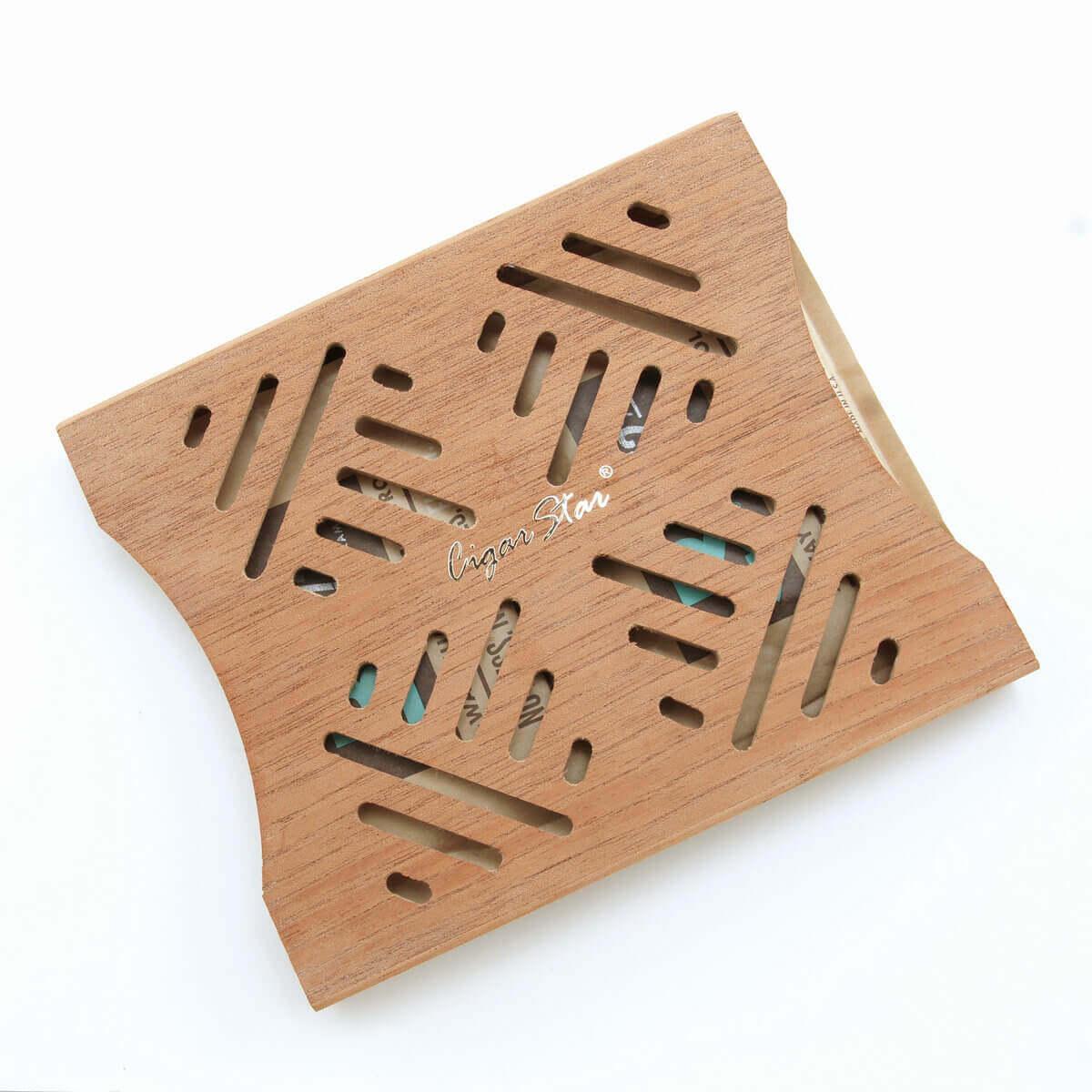 Cigar star's boveda Spanish cedar holder for cigar humidor