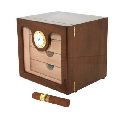 Walnut Executive Edge 4 Drawer Unique Cigar Humidor