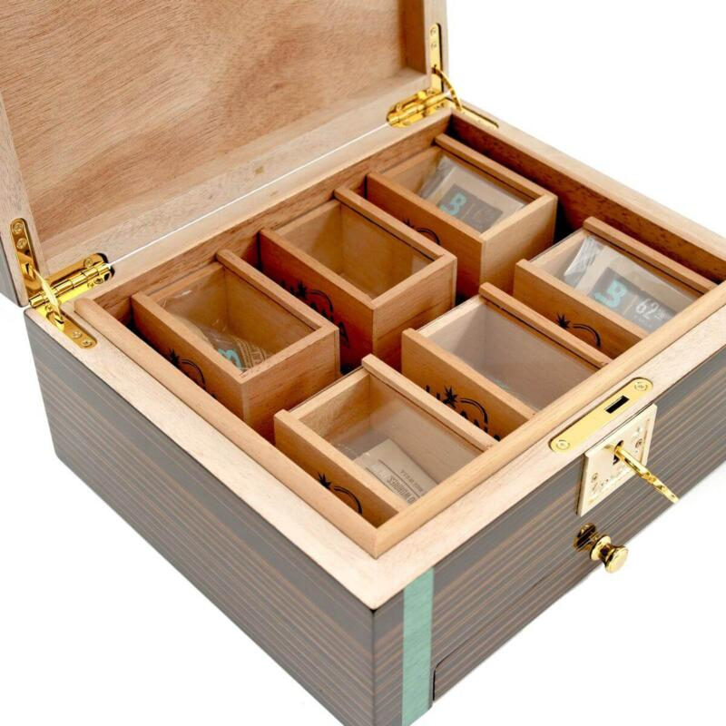 Cannabis storage humidor with bud coffins