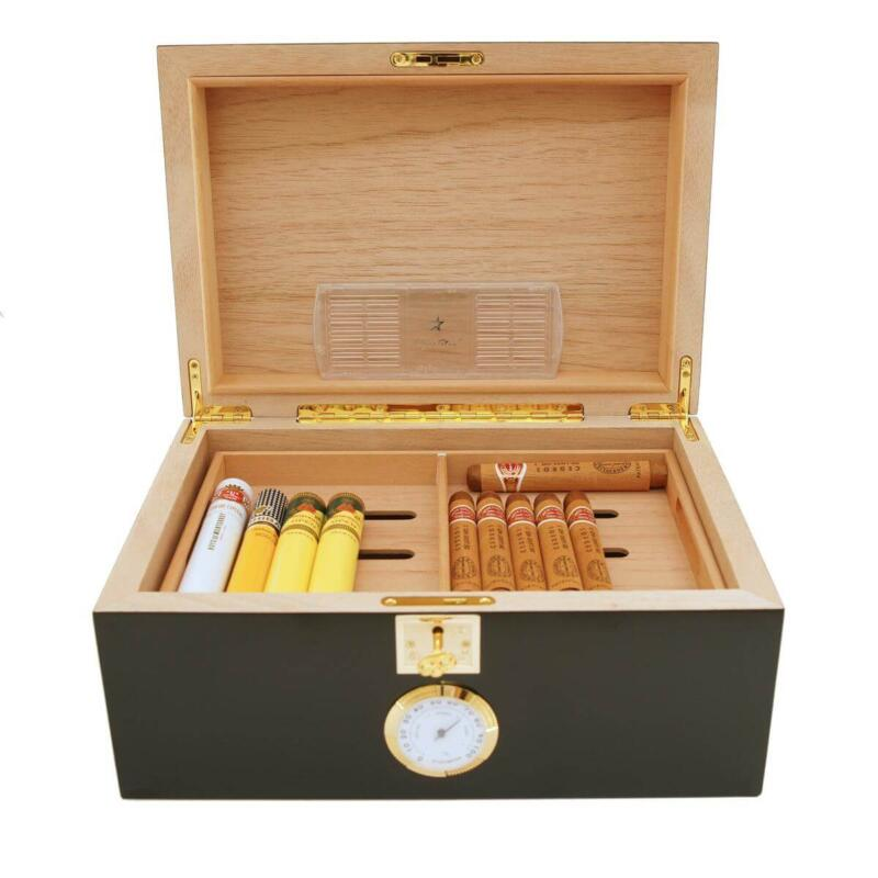 Black Cigar humidor for 100 cigars Cigar Star