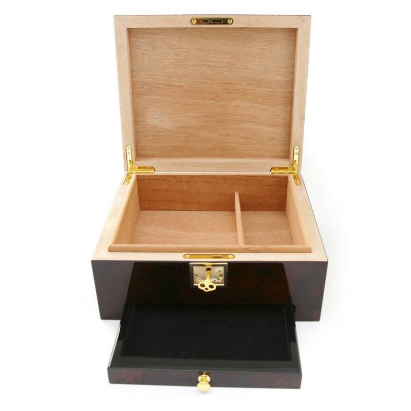 cigar humidor with drawer