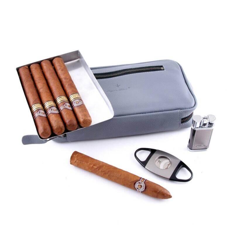 full grain leather cigar case