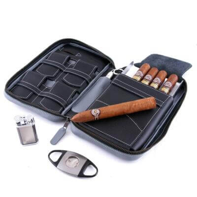 full grain leather cigar case