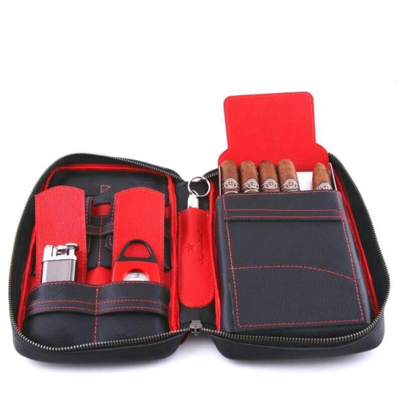 Full-Grain Leather Cigar Case