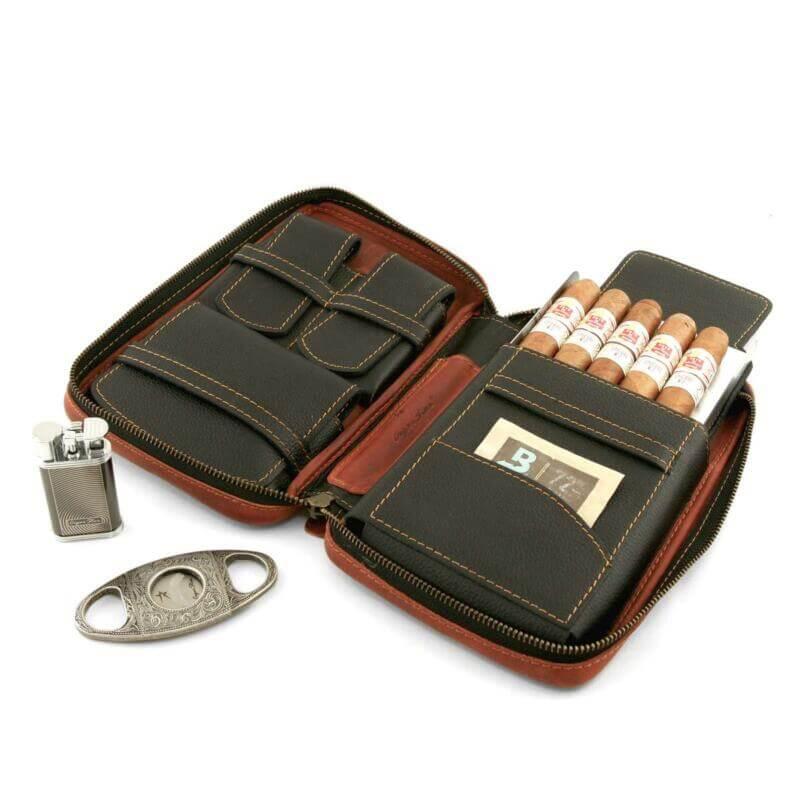 Cigar Star Leather cigar travel case